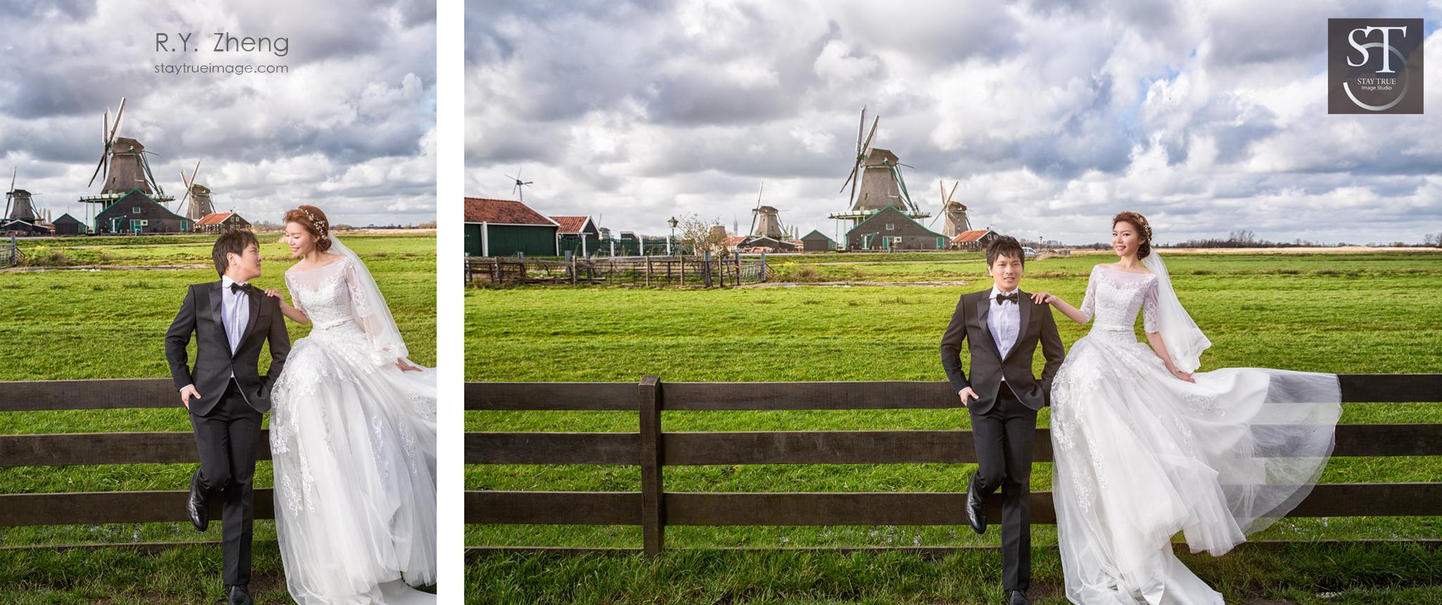 荷蘭 風車 婚紗